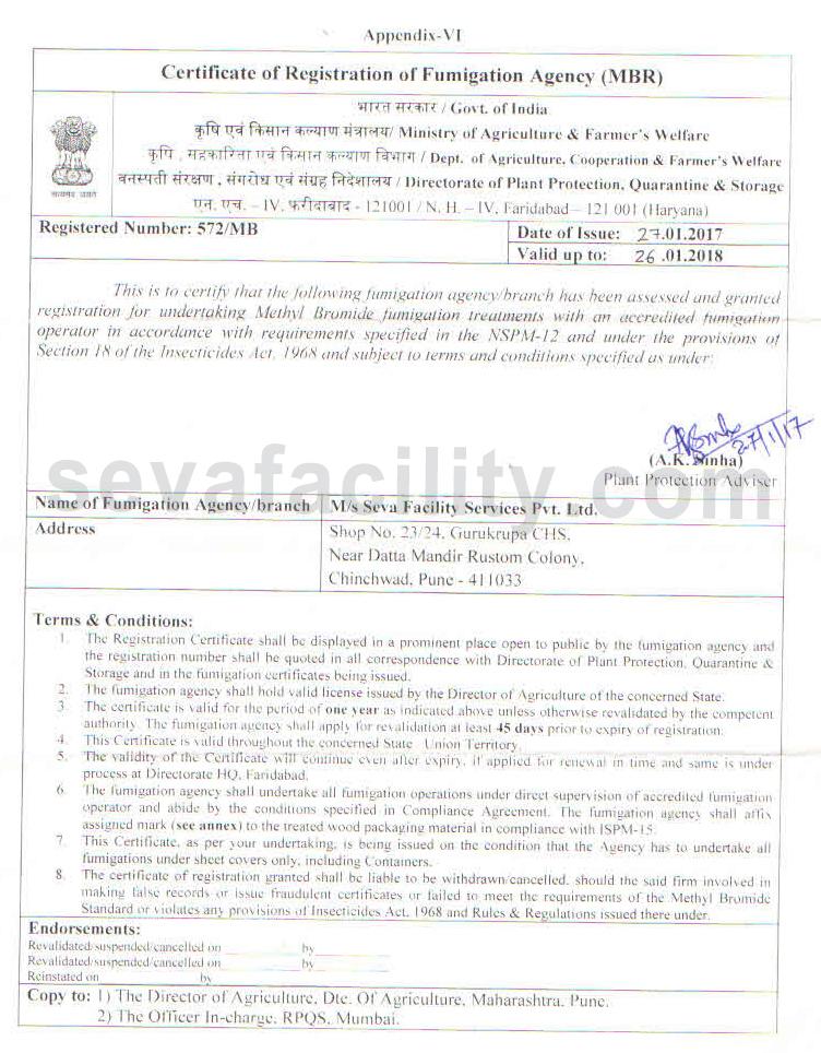 Único Fumigation Certificate Cresta - Certificado Actas de ...